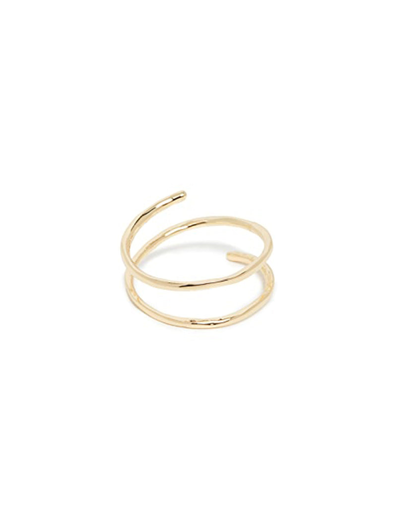 Taner Coil Ring in Gold