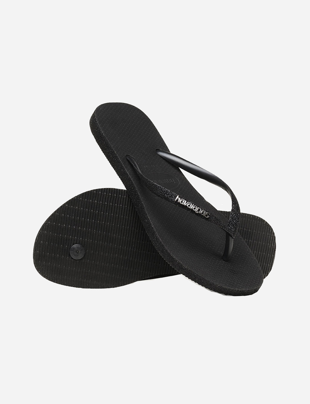 Havaianas Slim Sparkle Sandal in Black