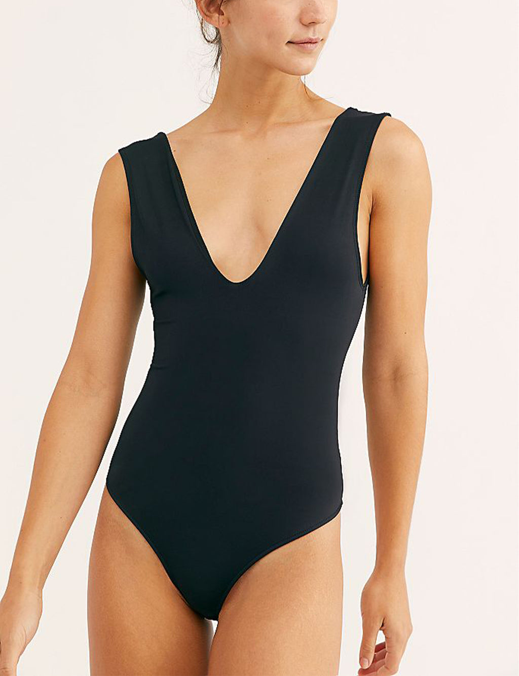 Free People Keep It Sleek Bodysuit in Black