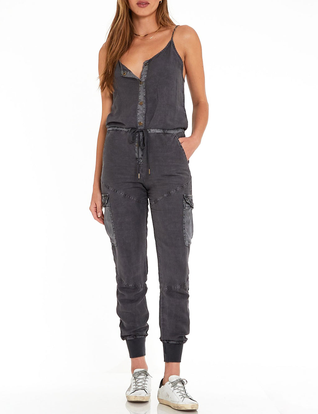 YFB Kaia Jumpsuit in Black Sand Pigment