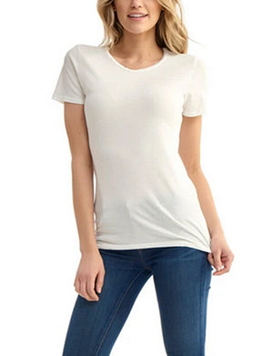 Groceries Womens Classic Crew in White