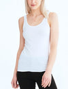 Groceries Scoop Tank in No Bleach White