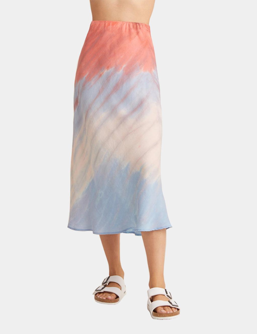 Bella Dahl Bias Midi Skirt in Poppy