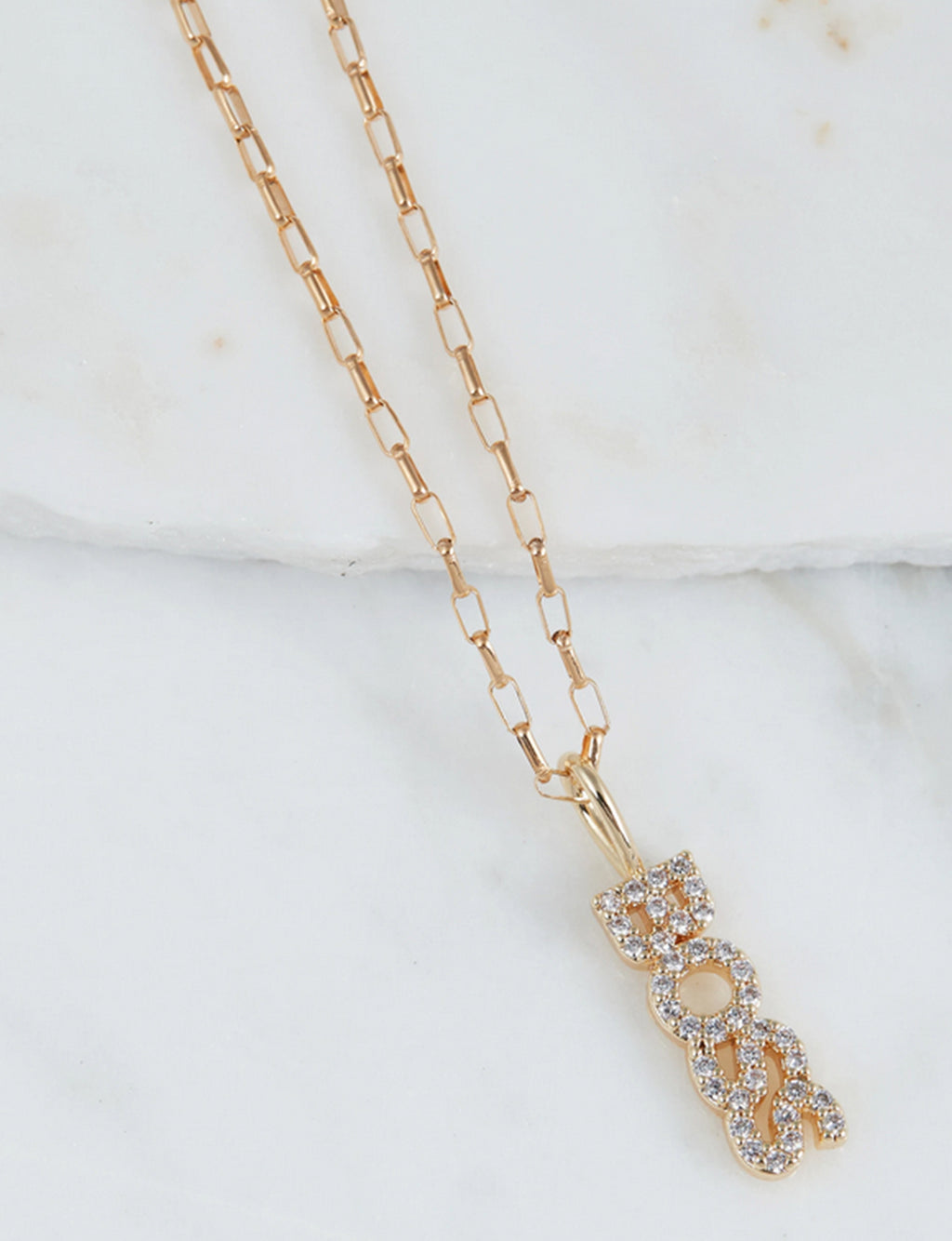 "Natalie B ""Boss"" CZ Necklace in 14K GF"