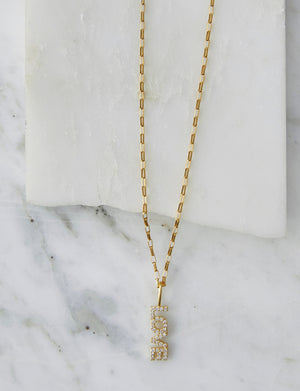 Natalie B Love CZ Necklace in 14k Gold Filled