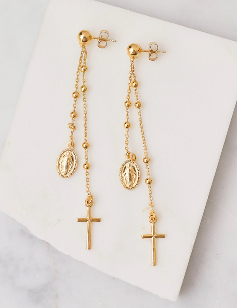 Natalie B Miraculous Earrings in 14K GP
