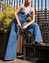 Free People Josie Jumpsuit in Blue