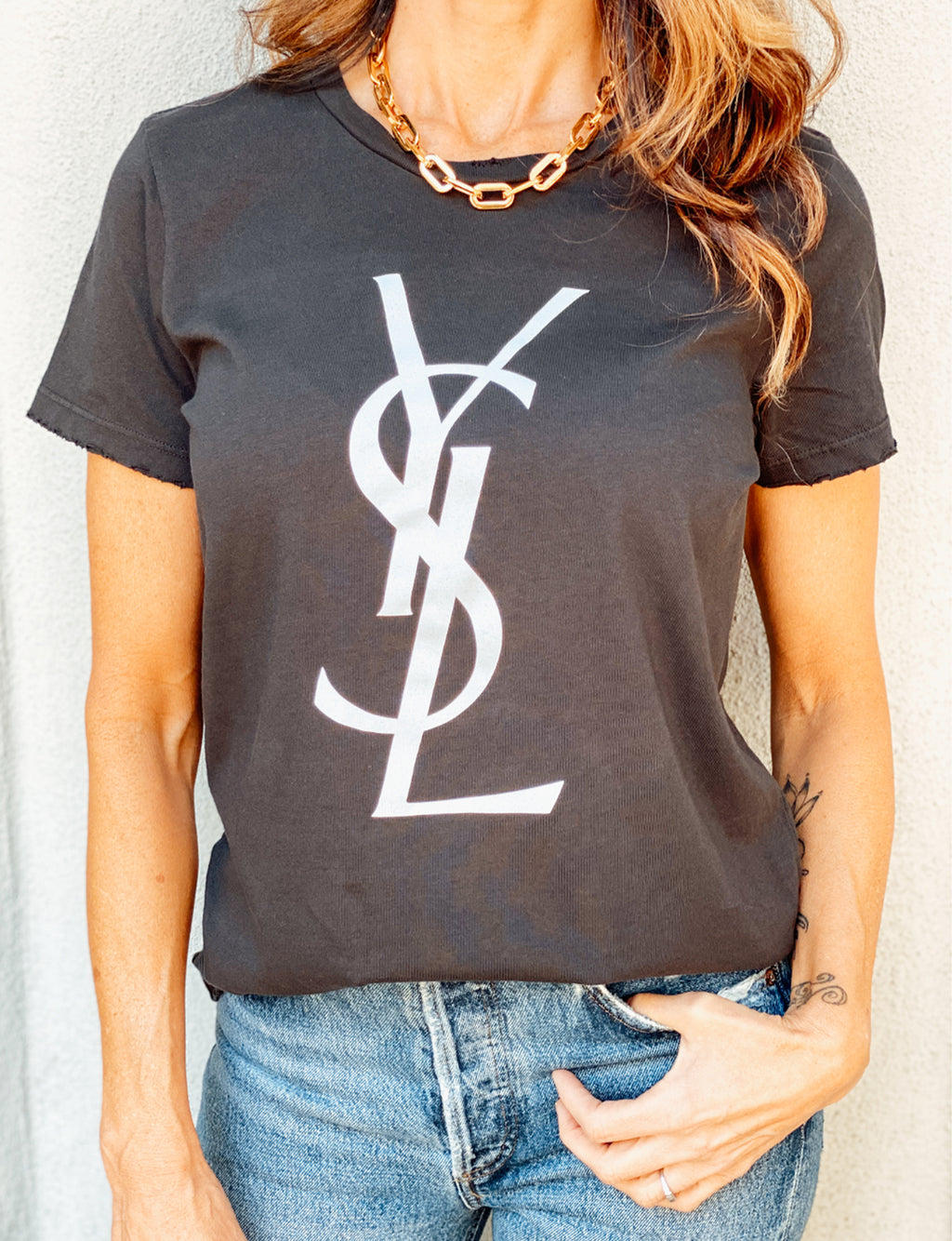 YMB YSL Unisex Tee in Black