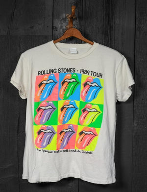 Madeworn Rollings Stones 89 Tour Crew Tee in Off White