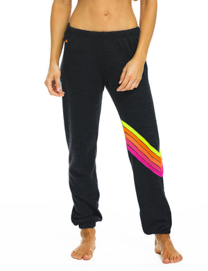 Aviator Nation Chevron Sweatpant in Charcoal/Neon