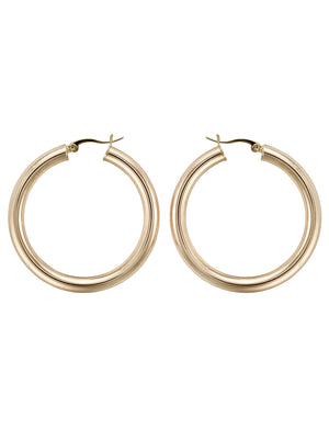 "Michaela Hoops 2"" in Gold"