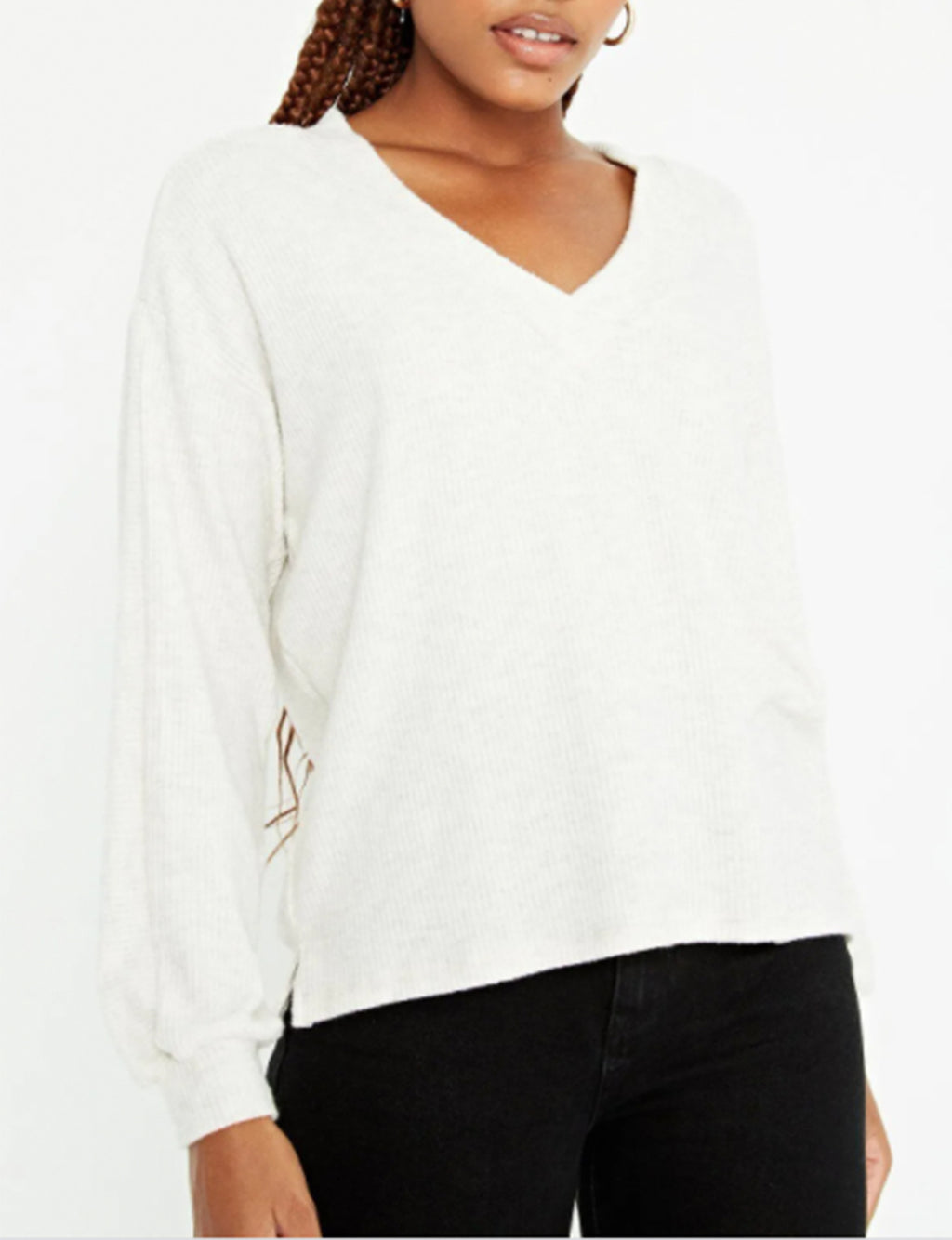 Time is Ours Cozy Seamed Longsleeve in Oatmeal