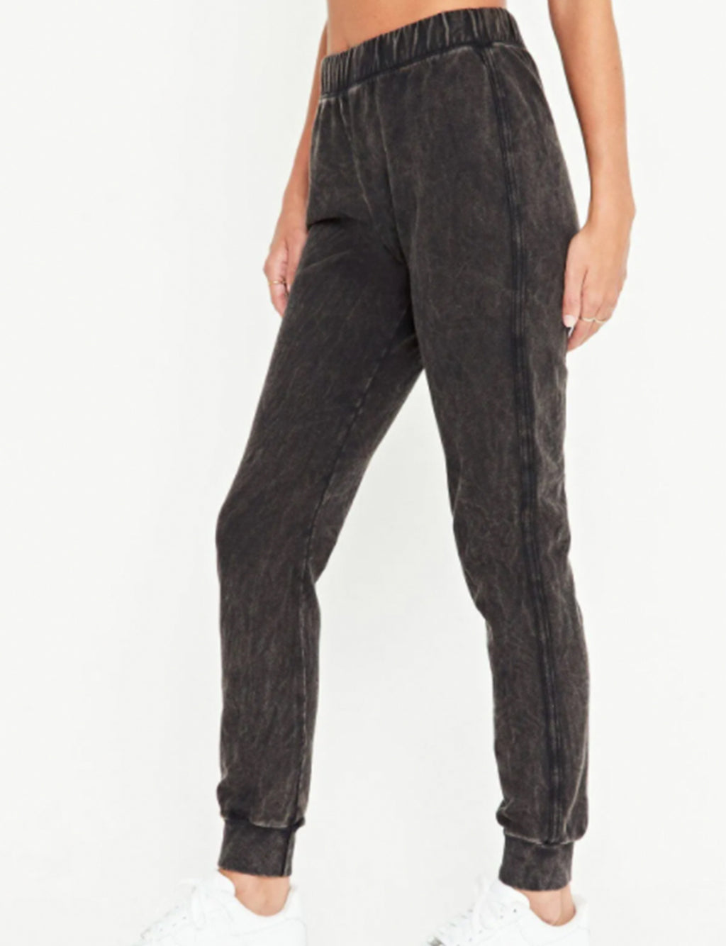 Daly Twill Stripe Pant in Washed Black