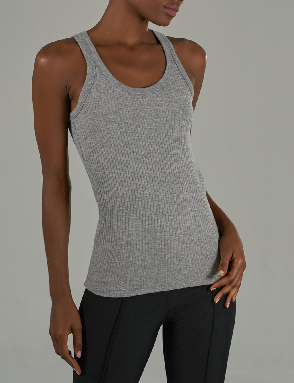 Boy Tank Wide Rib, Heather Grey