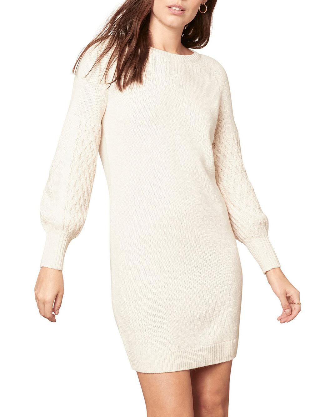 Seen Sweater Days Dress in Ivory