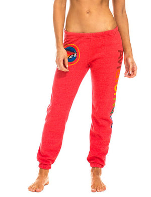 Womens Sweatpant in Neon Red