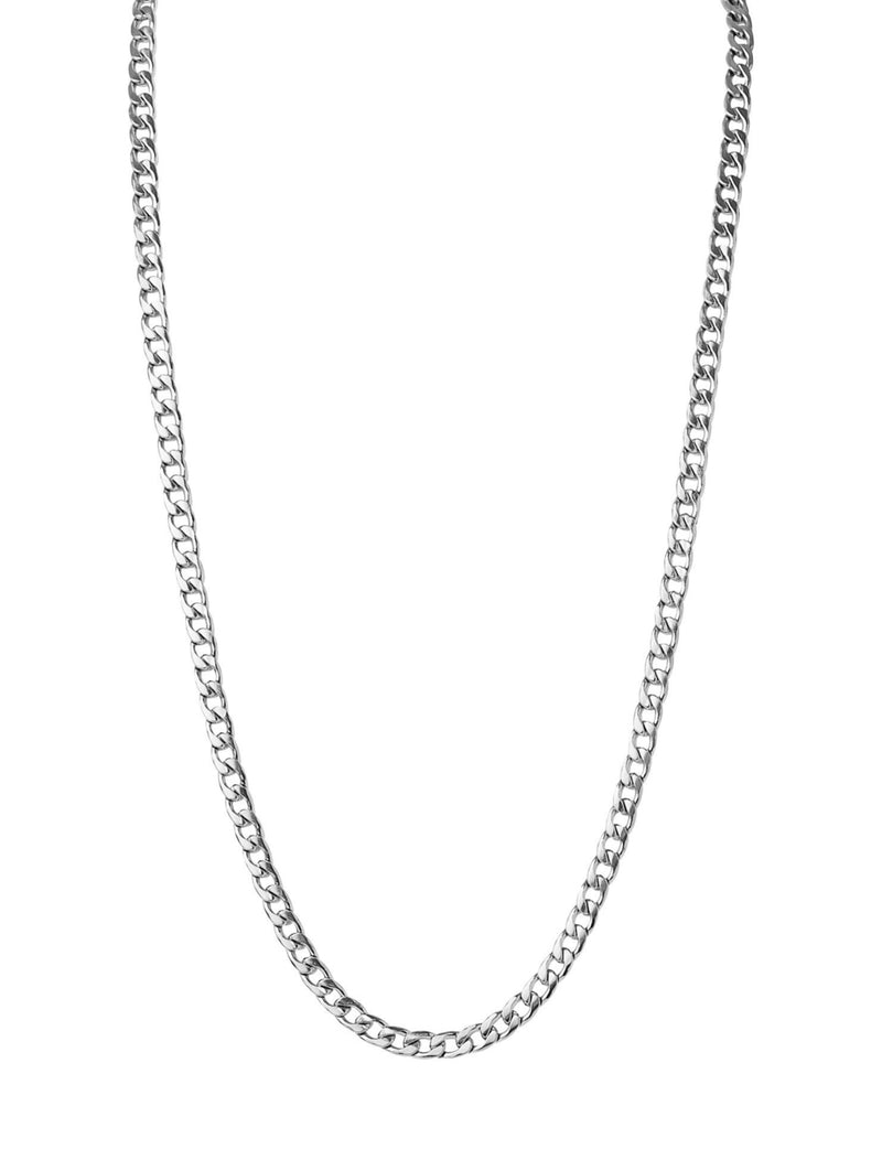 "Callie Chain Necklace in 24"" Silver"