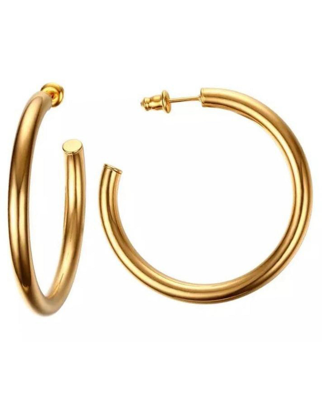"Clara Hoop Small (1.4"") in Gold"