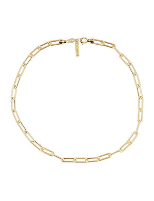 "Carrie Link Necklace 16"" in Gold"