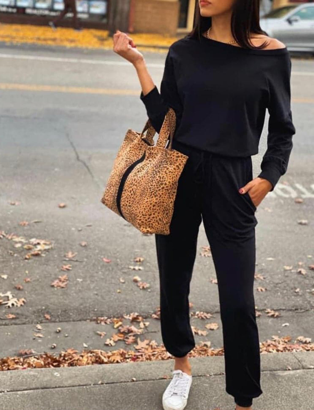 Terry Jumpsuit in Black