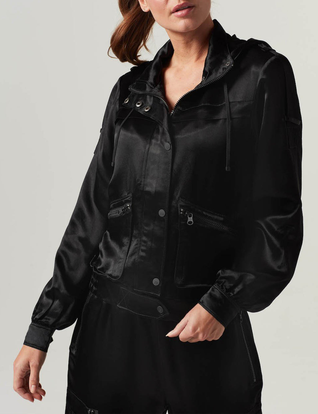 Silky Tactical Jacket in Black
