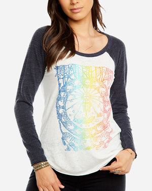Grateful Dead Baseball Tee in White/Avalon