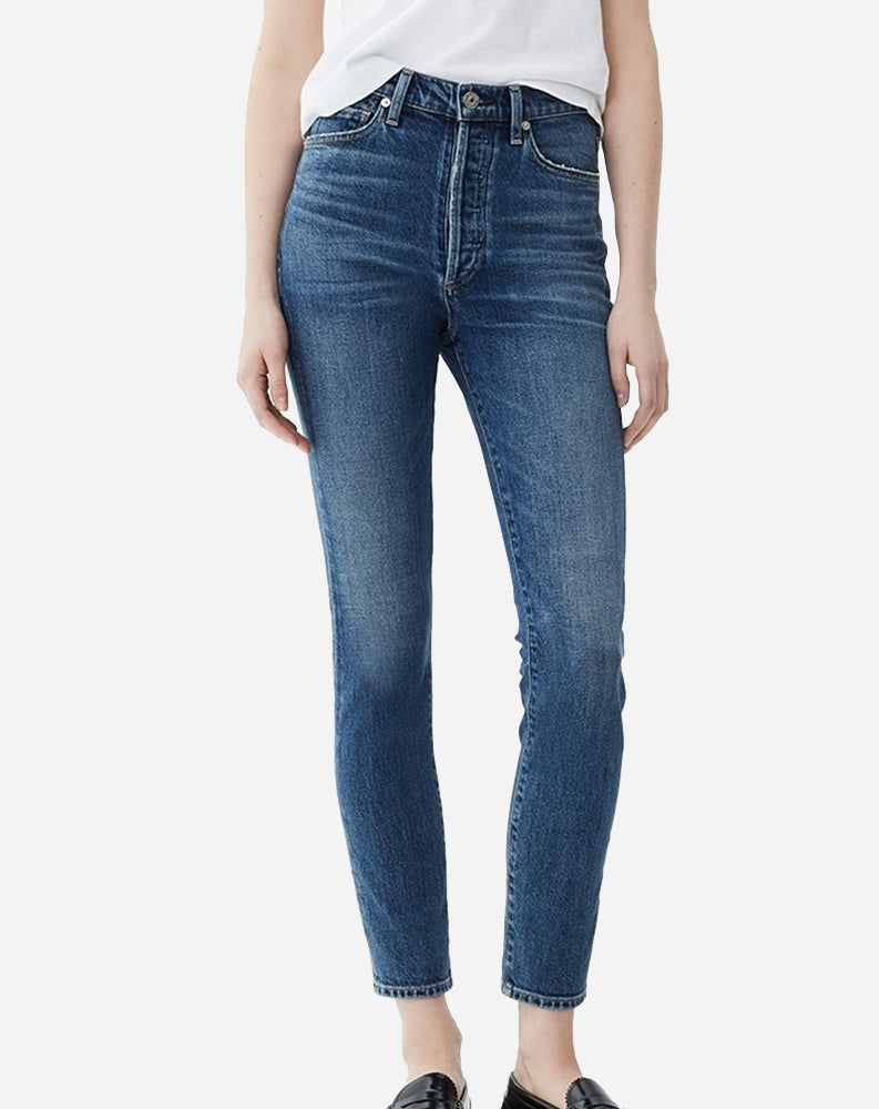 Olivia High Rise Slim Ankle in Solo