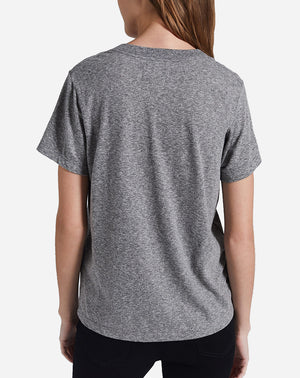 The Perfect V Tee in Heather Grey