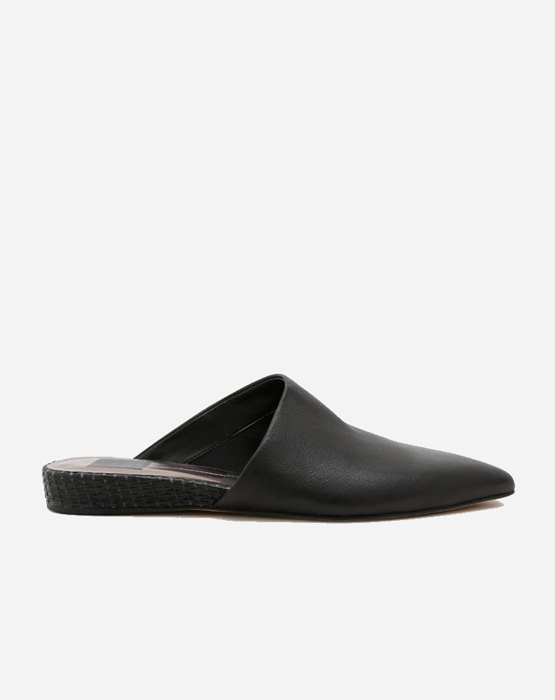 Ekko Slide in Black Leather