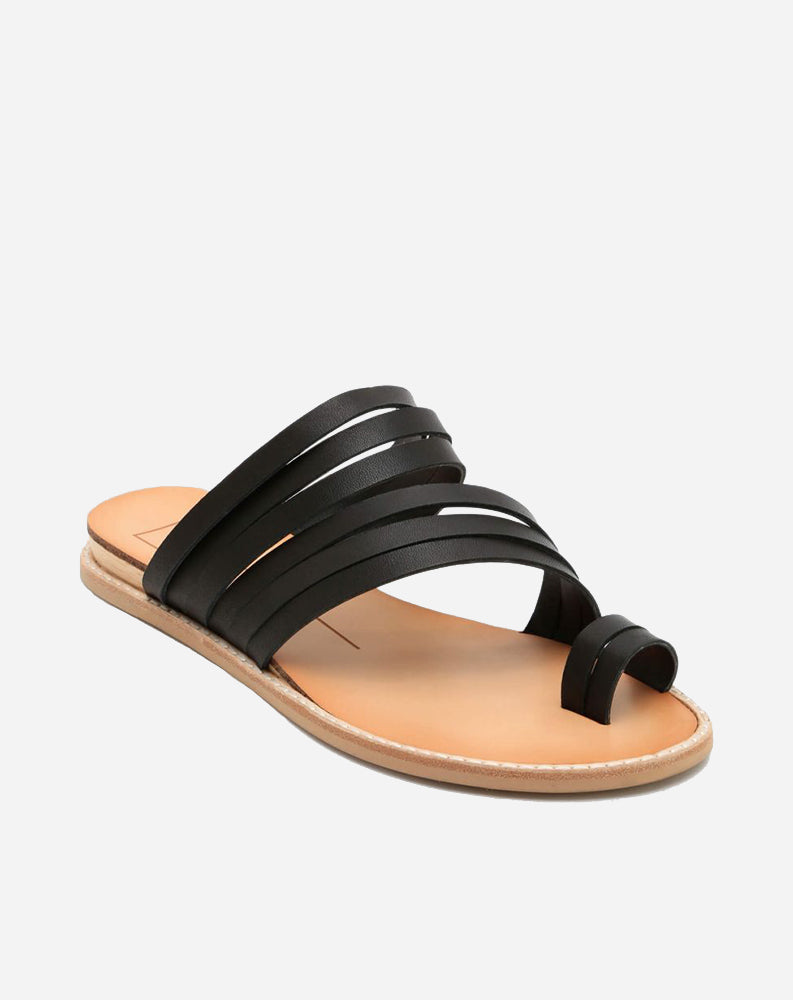 Nelly Sandal in Black Leather