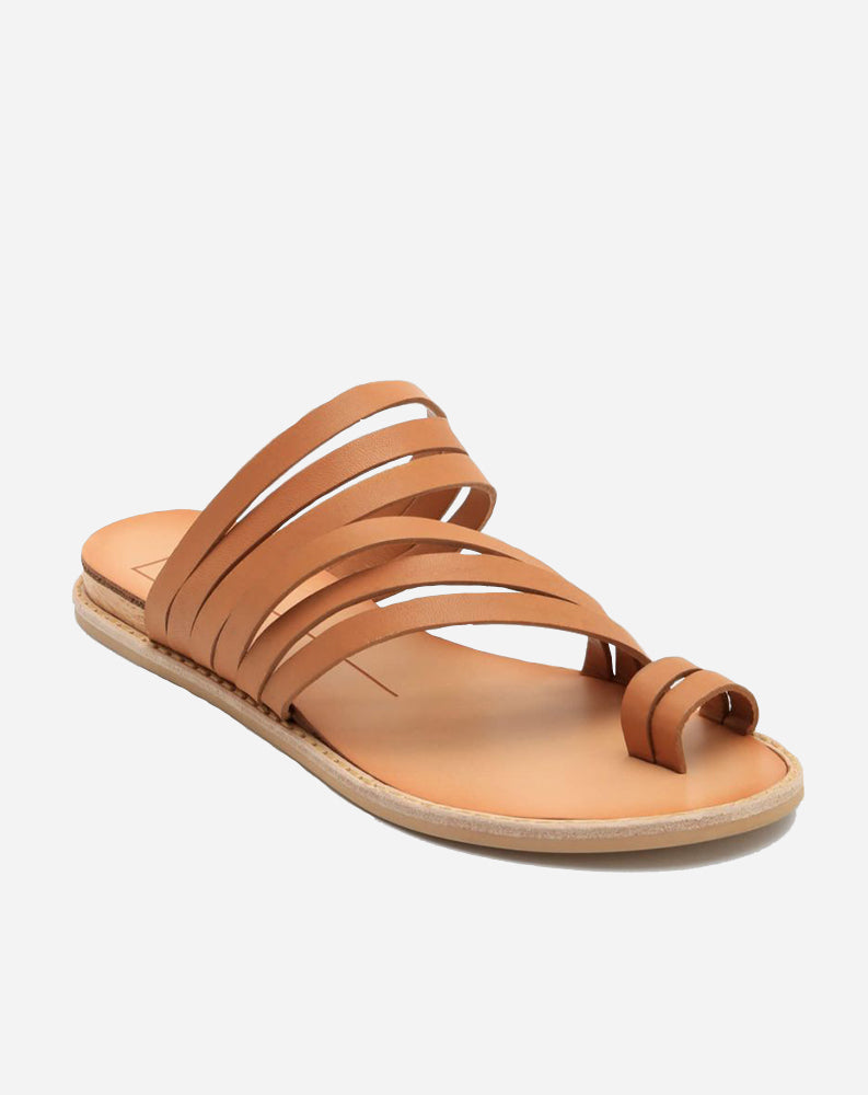 Nelly Sandal in Caramel Leather