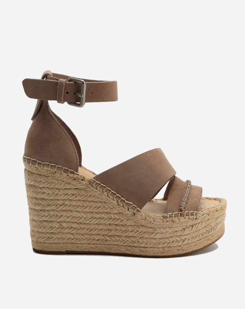 Simi Wedge in Almond Suede