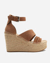 Simi Wedge in Dark Saddle Suede