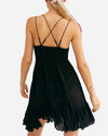 Adella Slip Dress in Black