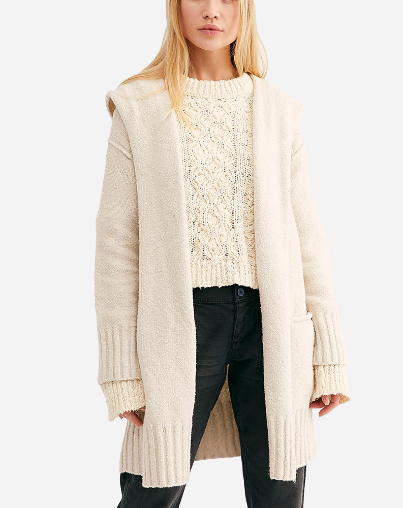 Snow Angel Cardigan in Ivory