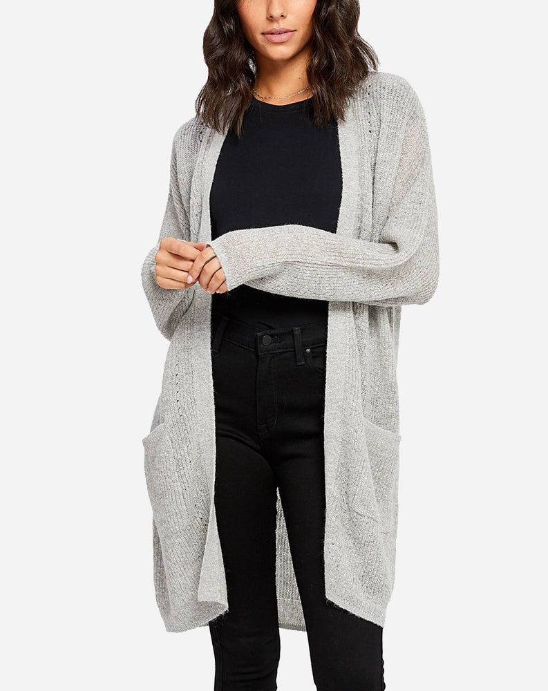 Carrall Cardi in Heather/Light Grey Mix