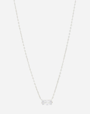 Amara Solitaire Necklace in CZ/Silver