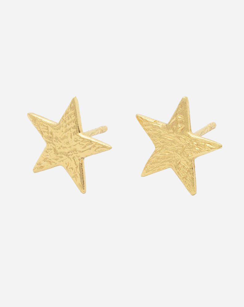 Star Studs in Gold