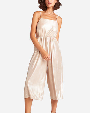 Shine On Jumpsuit in Pale Gold