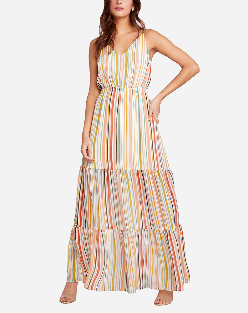 Maxi-mum Impact Maxi Dress in Grapefruit Stripe