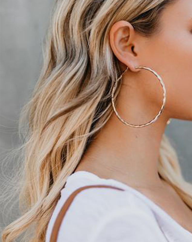 "Posey 2.5"" Hoops in Gold"