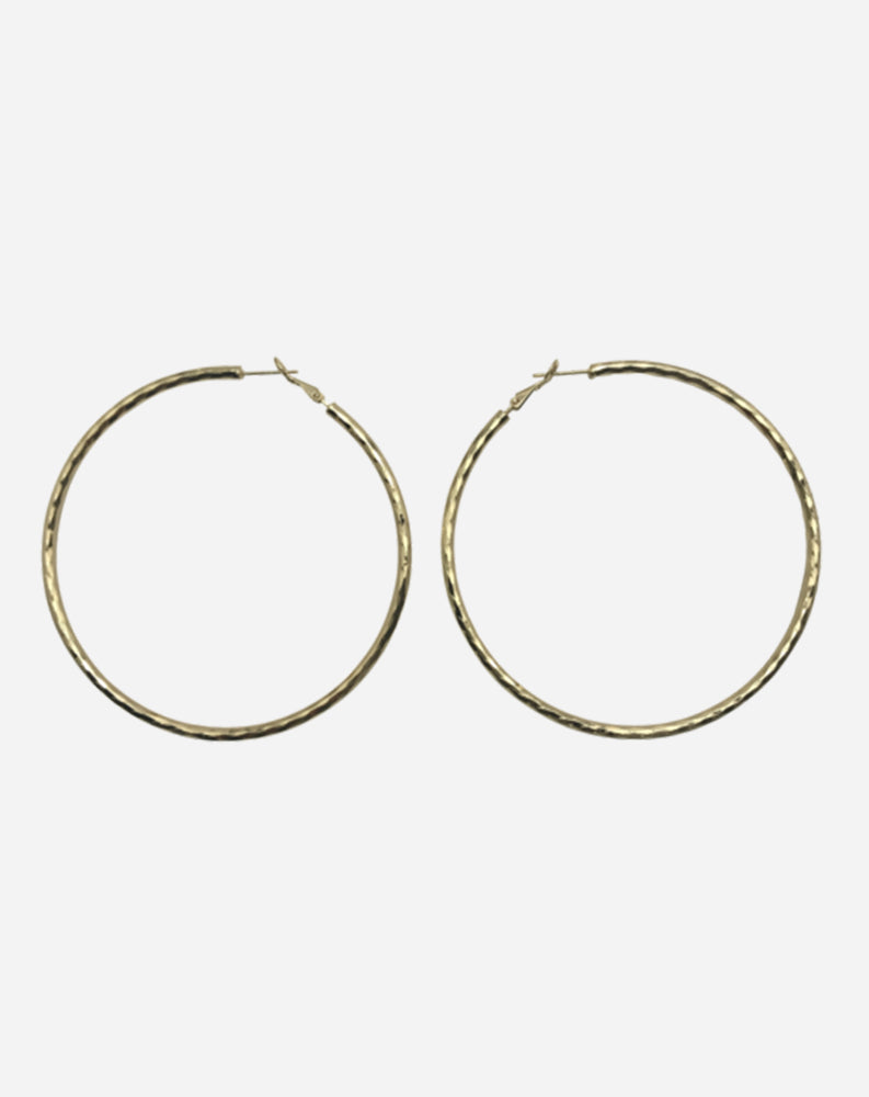 "Posey 3"" Hoops in Gold"