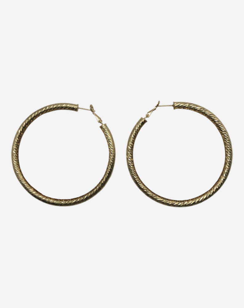 "Tev 3"" Hoops in Gold"