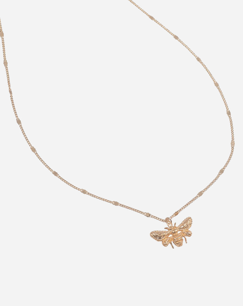 Queen Bee Necklace in 14K Gold