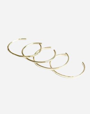 Delicate Bangle Set in Brass