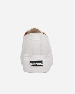 Nappa Leather Platform Sneaker in White