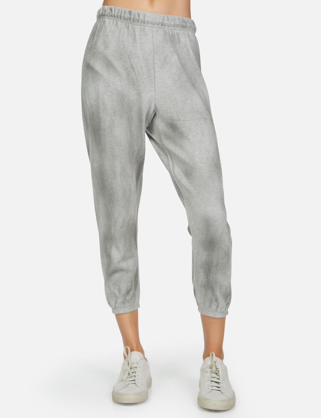 Nate Crop Sweatpant in Oil Wash