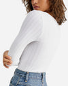 Lucky You Layering Top in White