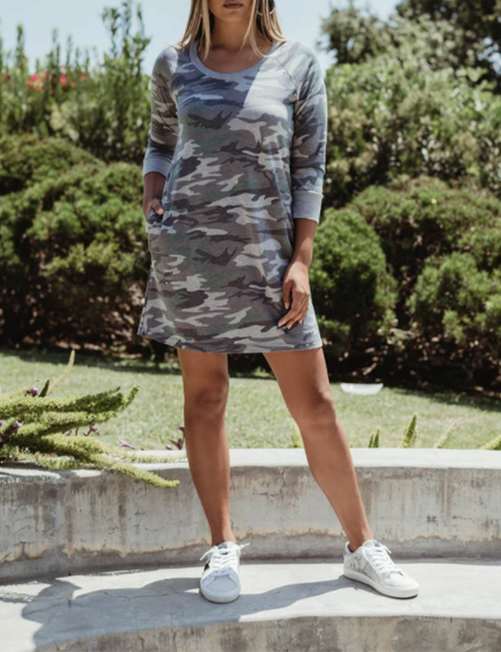 Sweatshirt Dress in Swanson Fatigue