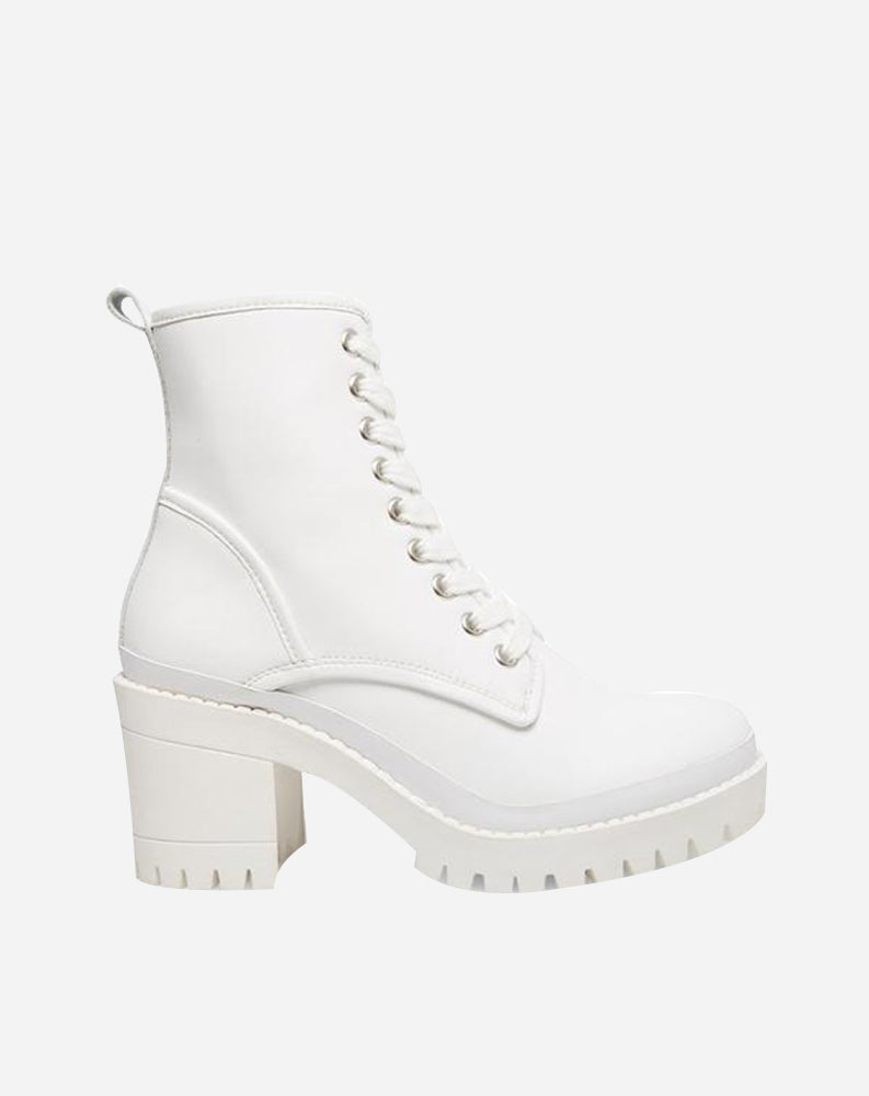 Bloomed Boot in White Leather